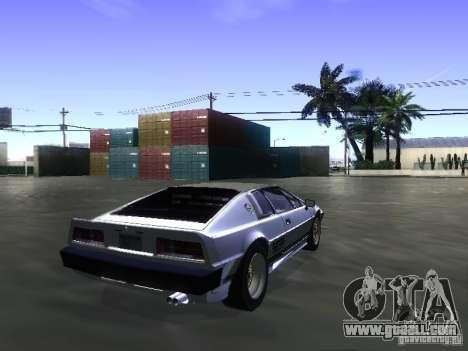 Lotus Esprit Turbo for GTA San Andreas left view