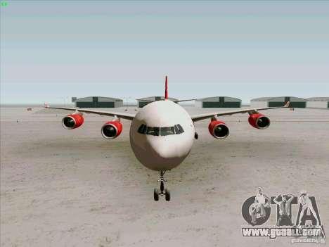 Airbus A-340-600 Virgin for GTA San Andreas inner view