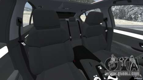 BMW M5 2012 for GTA 4 inner view