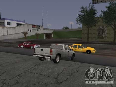 Chevorlet Silverado 2000 for GTA San Andreas back view