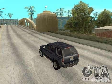 Chevrolet TrailBlazer 2003 for GTA San Andreas back left view
