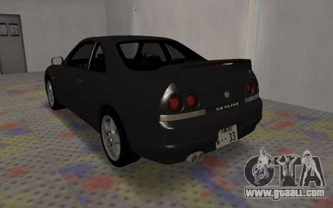 Nissan Skyline GTS25T (R33) for GTA San Andreas back left view