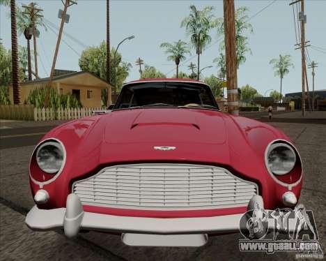 Aston Martin DB5 for GTA San Andreas back view