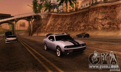 Dodge Challenger SRT-8 for GTA San Andreas back view
