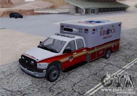 Dodge Ram Ambulance for GTA San Andreas back view