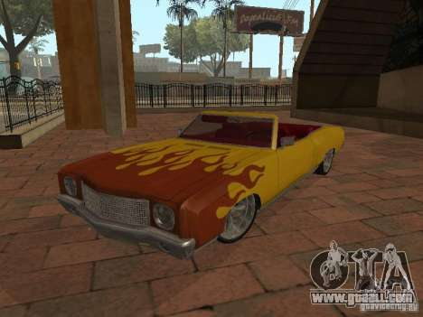 1970 Chevrolet Monte Carlo for GTA San Andreas inner view