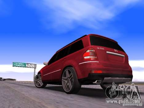 Mercedes-Benz GL500 Brabus for GTA San Andreas back left view