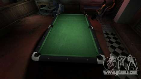 Superior billiard table in the bar 8 balls for GTA 4