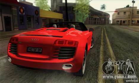 Audi R8 Spyder Tunable for GTA San Andreas left view