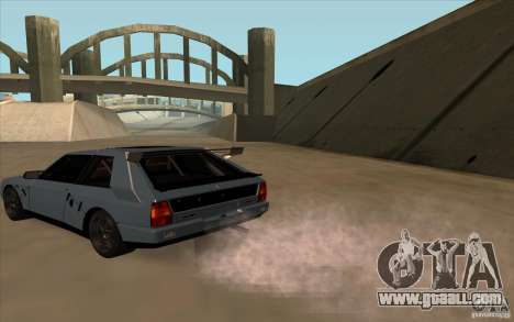Lancia Delta Integrale for GTA San Andreas back left view