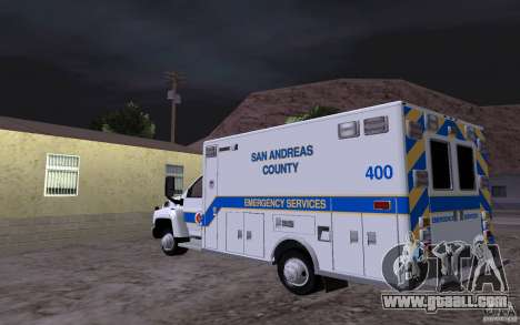 Chevrolet C4500 Ambulance for GTA San Andreas back left view