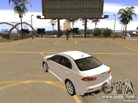 Mitsubishi Lancer Evo X for GTA San Andreas left view