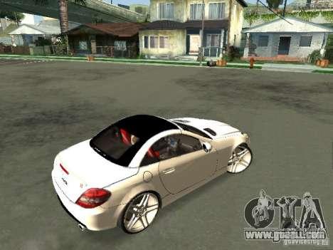 Mercedes Benz SLK 300 for GTA San Andreas back left view