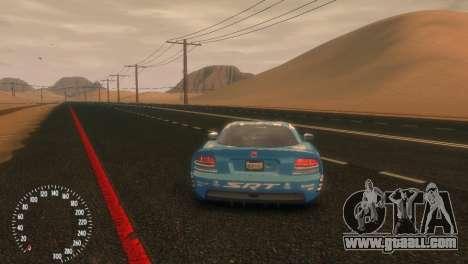 Dodge Viper SRT-10 Mopar Drift for GTA 4 back left view