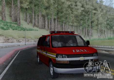 Chevrolet Express Special Operations Command for GTA San Andreas back view