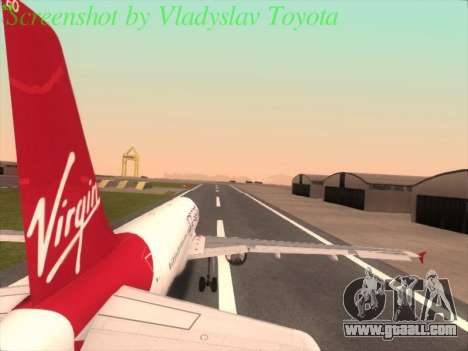 Airbus A320-211 Virgin Atlantic for GTA San Andreas left view