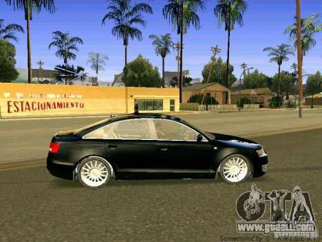 Audi A6 for GTA San Andreas back view