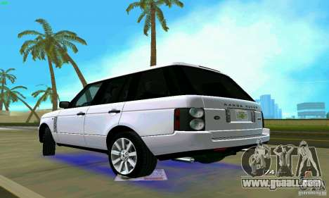 Land Rover Range Rover Supercharged 2008 for GTA Vice City left view