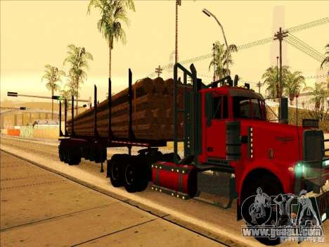 Trailer, Western Star 4900 for GTA San Andreas left view