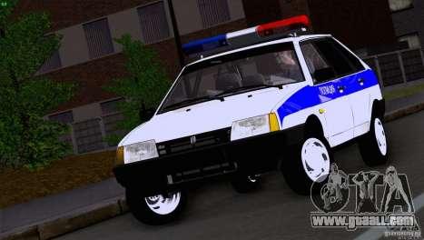 Vaz 2109 Police for GTA San Andreas