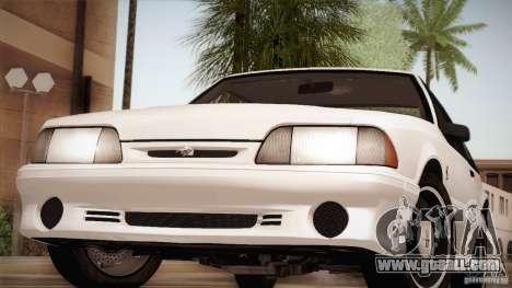 Ford Mustang SVT Cobra 1993 for GTA San Andreas engine