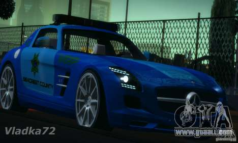 Mercedes-Benz SLS AMG Blue SCPD for GTA San Andreas