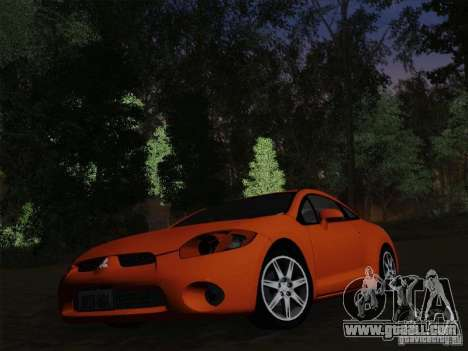 Mitsubishi Eclipse GT V6 for GTA San Andreas bottom view
