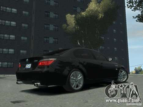 BMW M5 E60 for GTA 4 back left view