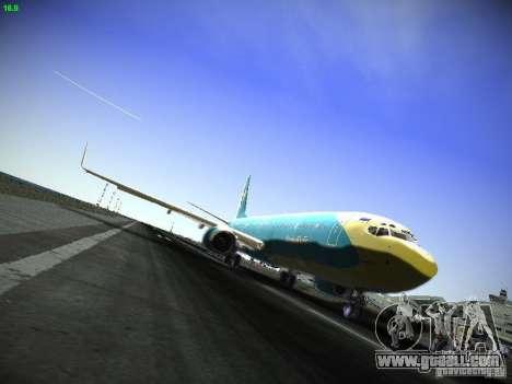 Boeing 737-84R AeroSvit Ukrainian Airlines for GTA San Andreas left view
