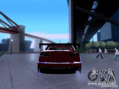 Mitsubishi Lancer Evolution X v2 Make Stance for GTA San Andreas inner view
