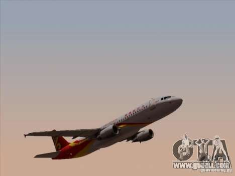 Airbus A320-214 Hong Kong Airlines for GTA San Andreas inner view