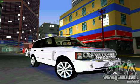 Land Rover Range Rover Supercharged 2008 for GTA Vice City inner view