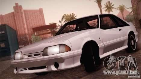 Ford Mustang SVT Cobra 1993 for GTA San Andreas inner view