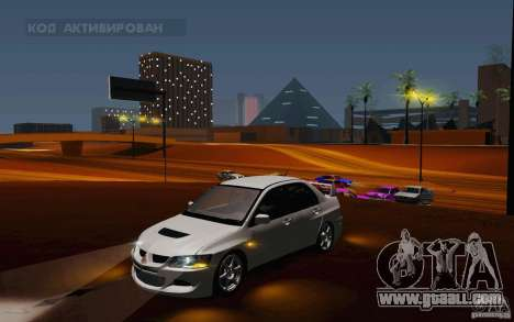 Mitsubishi Lancer Evo VIII GSR for GTA San Andreas