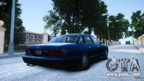 Civilian Taxi - Police - Noose Cruiser for GTA 4 left view