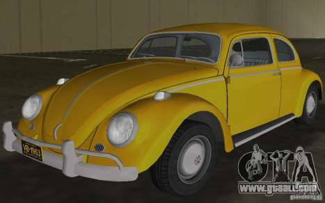 Volkswagen Beetle 1963 for GTA Vice City inner view