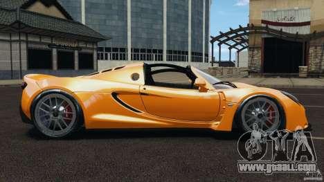 Hennessey Venom GT Spyder for GTA 4 left view