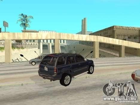 Chevrolet TrailBlazer 2003 for GTA San Andreas right view
