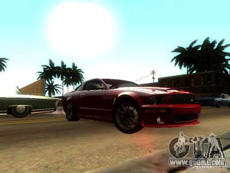 Ford Shelby GT 2008 for GTA San Andreas back left view