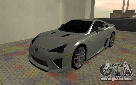 Lexus LFA AutoVista 2010 for GTA San Andreas