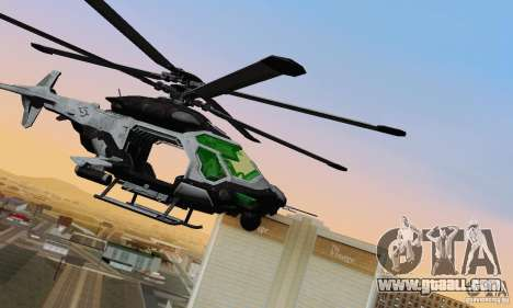 AH-2 Сrysis 50 C.E.L.L. Helicopter for GTA San Andreas left view