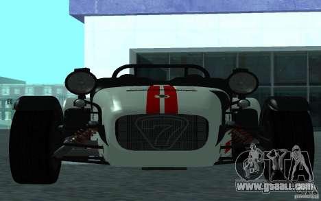 Caterham R500 for GTA San Andreas left view