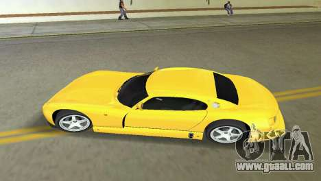 TVR Cerbera Speed 12 for GTA Vice City back left view