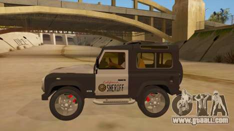 Land Rover Defender Sheriff for GTA San Andreas left view