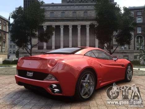 Ferrari California 2009 for GTA 4 left view