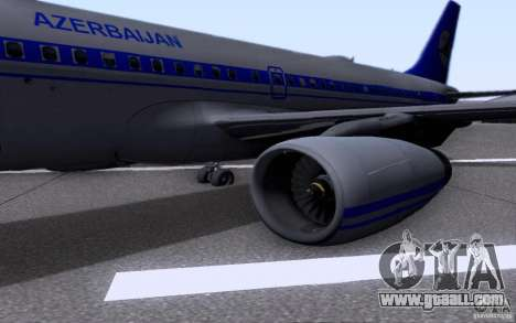 Airbus A-319 Azerbaijan Airlines for GTA San Andreas back view