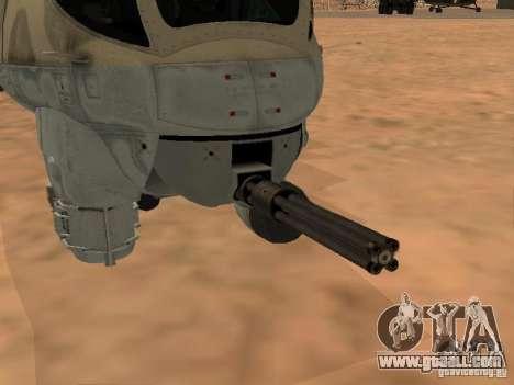 Mi-24 p for GTA San Andreas bottom view