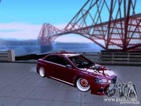 Mitsubishi Lancer Evolution X v2 Make Stance for GTA San Andreas left view