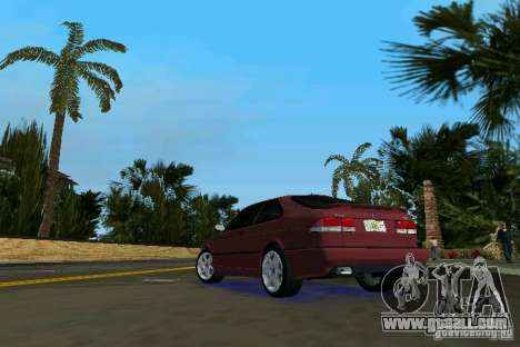 Saab 9-3 Aero 3-door 1999 for GTA Vice City back left view