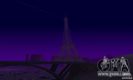 The Eiffel Tower from Call of Duty Modern Warfar for GTA San Andreas fifth screenshot